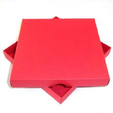 "6"" x 6"" Red Invitation Boxes For Handmade Cards"